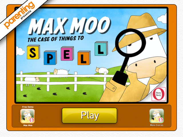 MaxMoo Spelling O Story Story Reading Apps