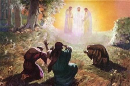 Mozus un Elija runā ar Jēzu