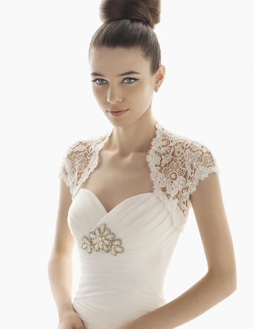 Hochzeitskleider 2012 - gehäkelte Schultern - Brautkleider