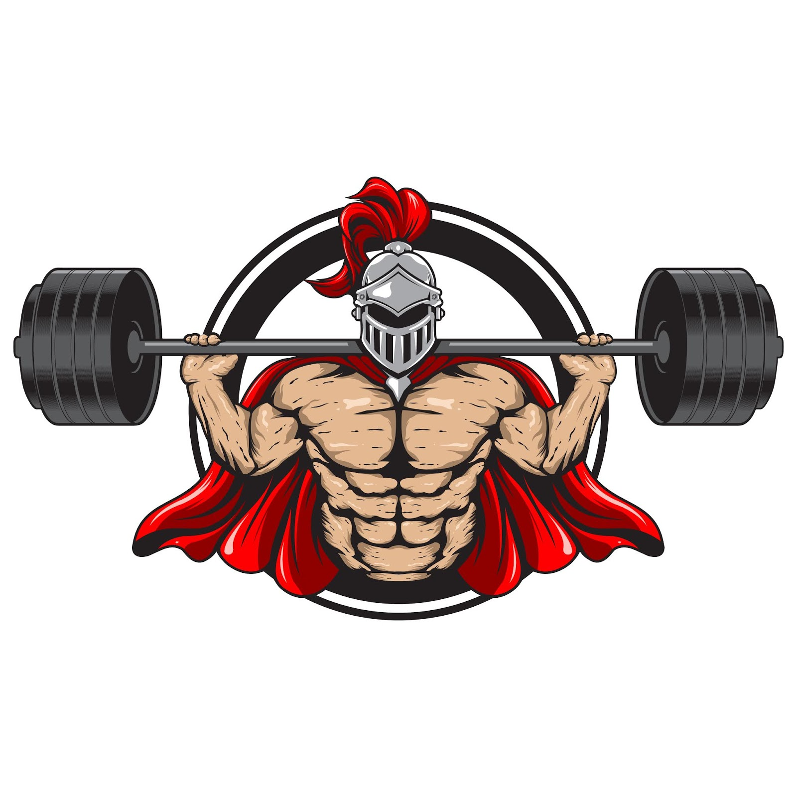 Fitness Spartan Illustration Free Download Vector CDR, AI, EPS and PNG Formats