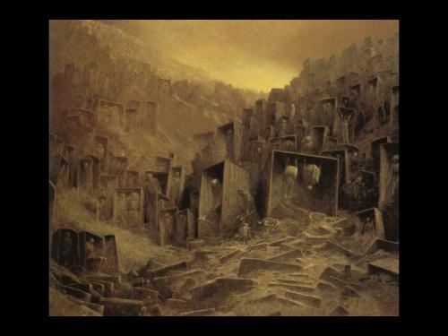 Zdzislaw Beksinski Dead City, Death