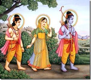 [Sita-Rama-Lakshmana in forest]