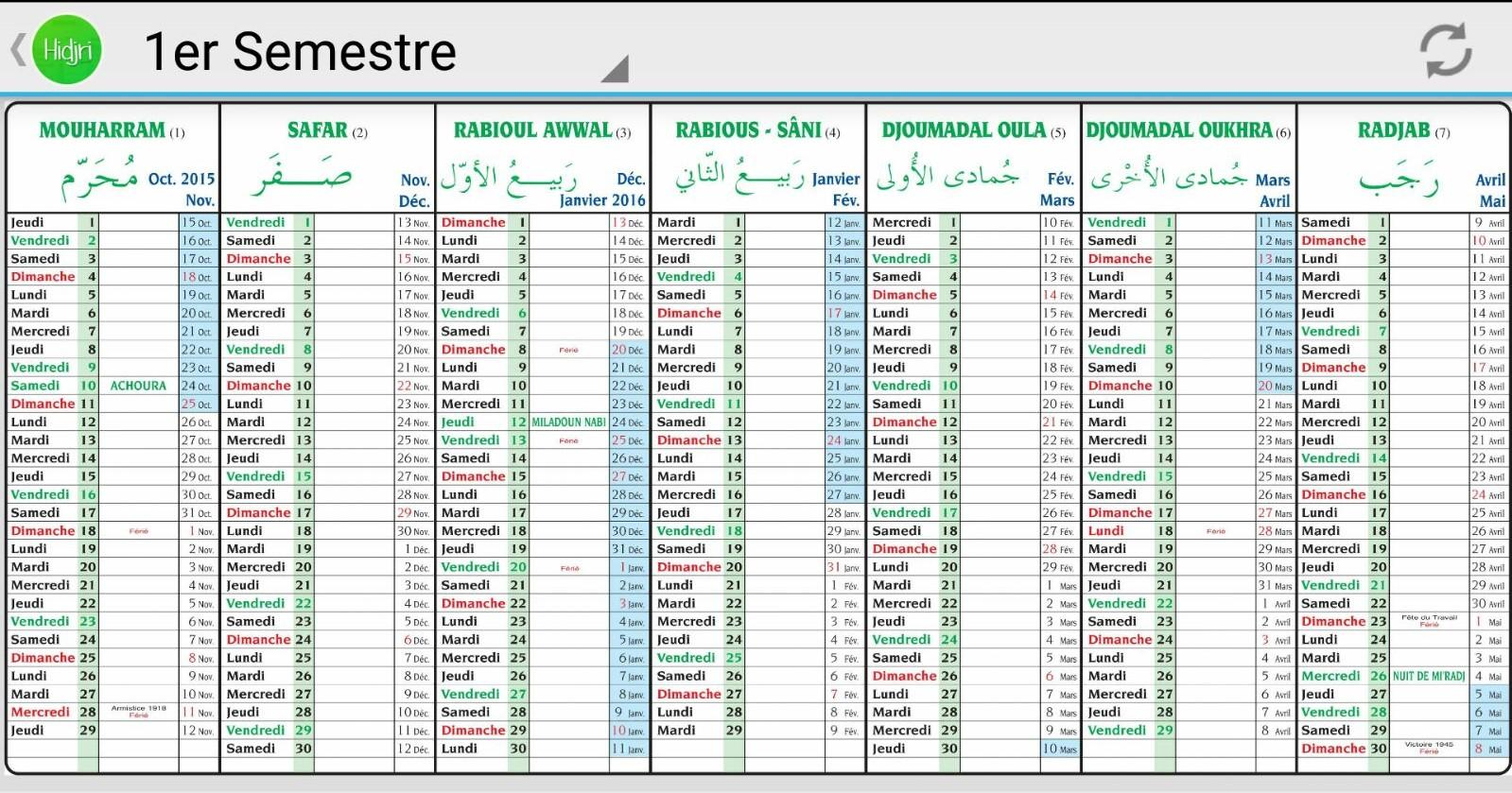 calendrier musulman pdf