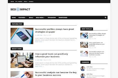 Seo impact premium blogger template free download