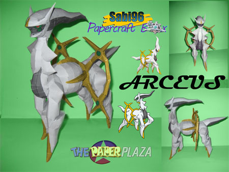 Pokemon Arceus Papercraft