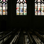 Collégiale Saint-Martin : vitraux sud
