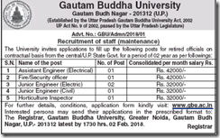 GBU Notification 2018 www.indgovtjobs.in