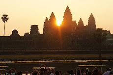 Iconic sunrise over Angkor Wat