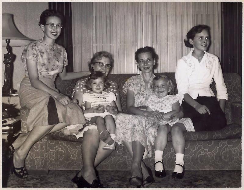 With Martha, Henrietta, Sandra Wendel, Evie and Francie