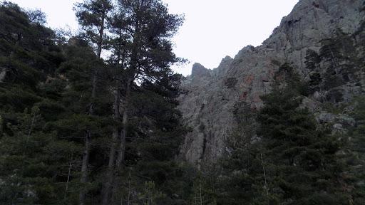 L'entrée du ravin de la Solitude en RG de la Combe Rouge