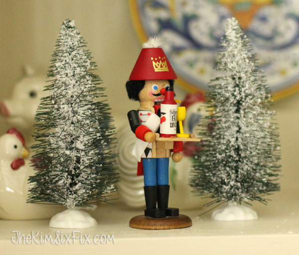 Nutcracker with bottle brush trees