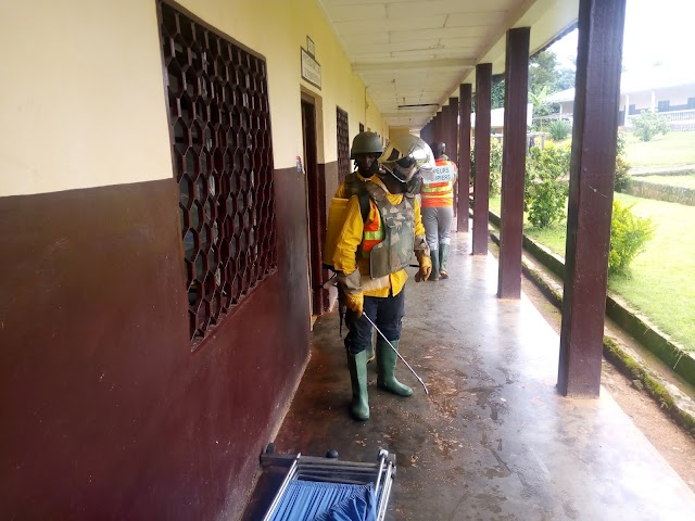 COVID-19: Bafut Mayor takes measures, disinfects public places