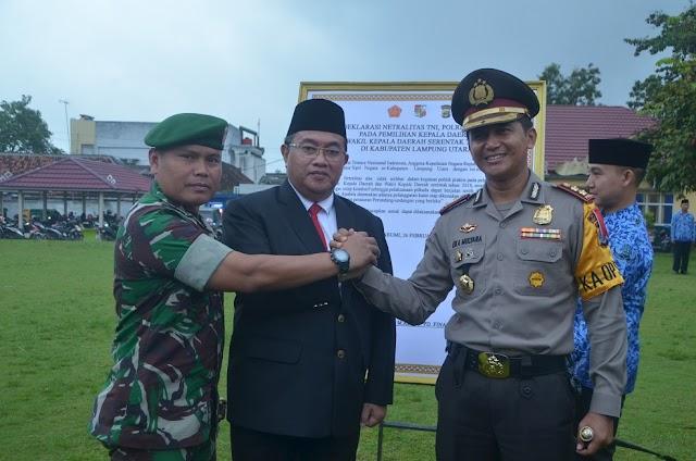 Pemkab Lampura gelar Deklarasi Netralisasi ASN, POLRI, Dan TNI