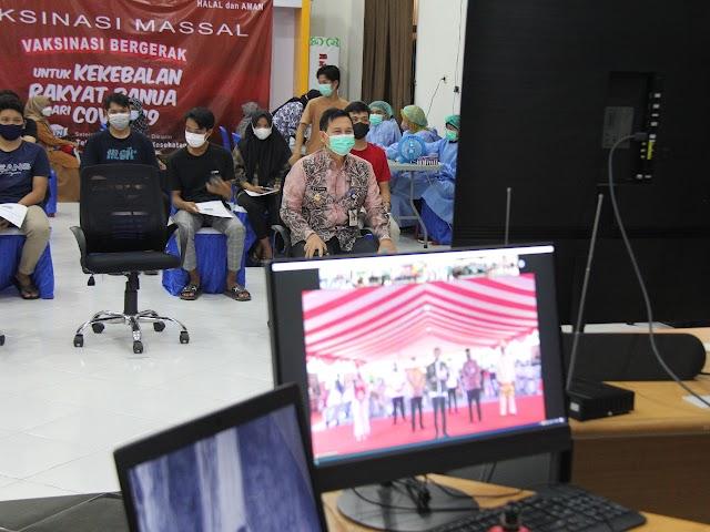 Presiden Beri Arahan dan Dukungan Vaksinasi, Wabup Balangan Target 70 Persen