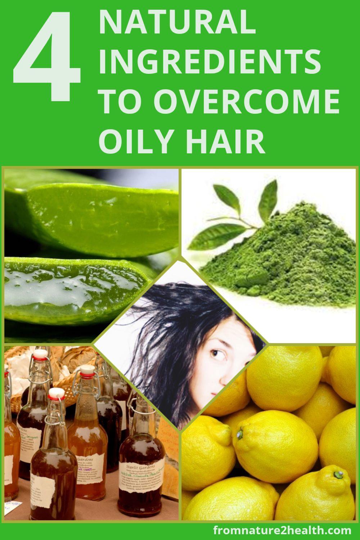 Apple Vinegar, Aloe Vera, Lemon, Green Tea are 4 Natural Ingredients to Overcome Oily Hair