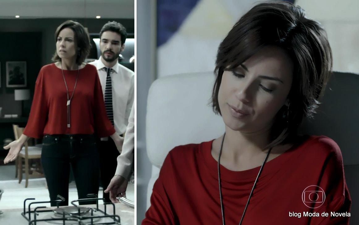 moda da novela Império, look da Maria Clara no dia 16 de dezembro de 2014