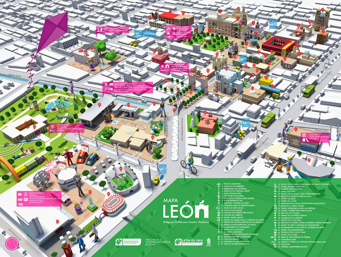 Presentan El Mapa De Leon Ciudad Historica