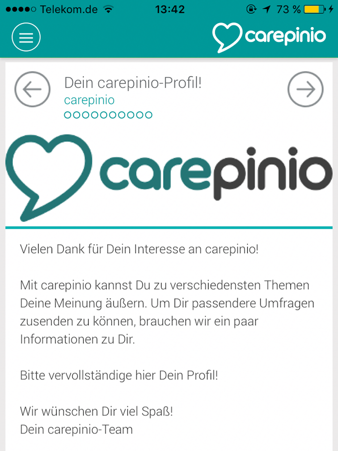 carepinio- screenshot