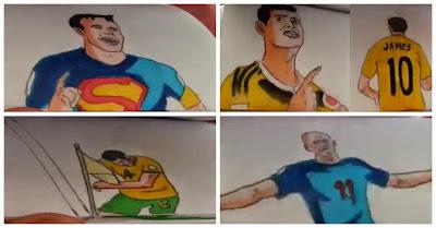 Os Melhores Golos Do Campeonato Do Mundo 2014 Em Brutais Animações Em Bloco De Papel! DE TOPO!!!