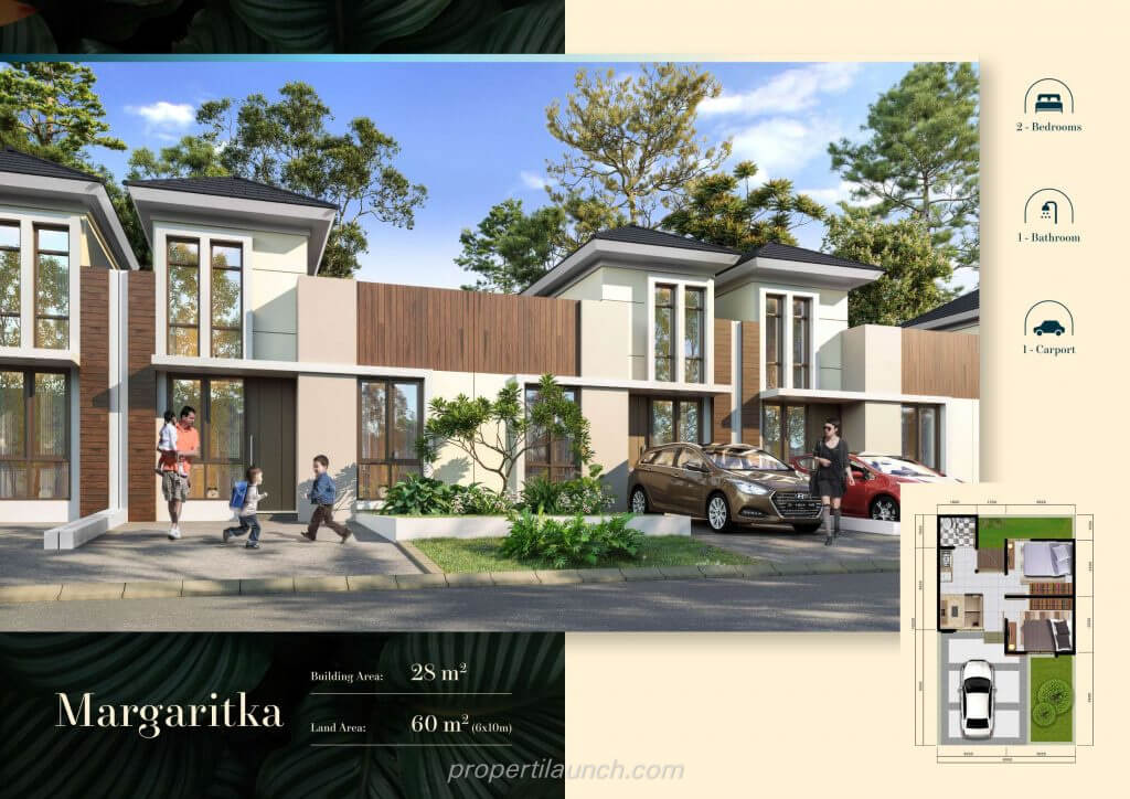 Rumah Cluster Volga Citra Sentul Raya Bogor - Margaritka