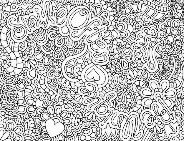 Very Detailed Coloring Pages With Designs Canvas Images