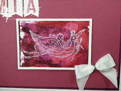 Stampin' Up! - In{k}spire_me #243, Sketch Challenge, Banner, ribbon bow, Bringing Baby, Watercolor technique, baby card