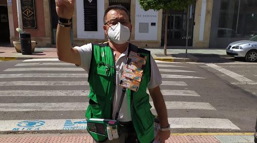 Pablo Rueda reparte su segundo 'Sueldazo' del sorteo de la ONCE