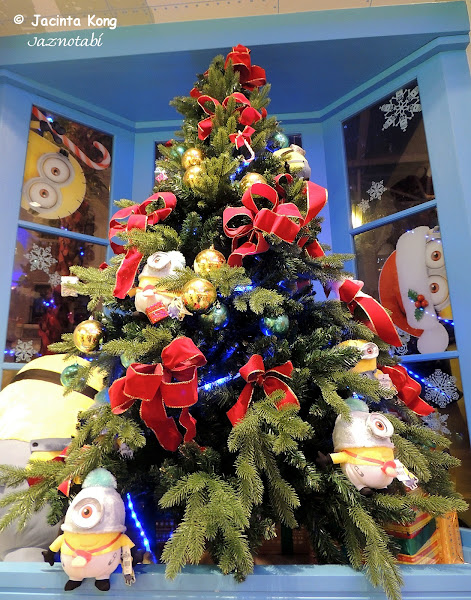 couldnt help taking a picture of this minion christmas tree which was part of the shops decorations at the minion mart