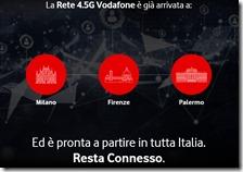 La rete 4.5G Vodafone