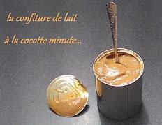 Confiture de lait à la cocotte minute
