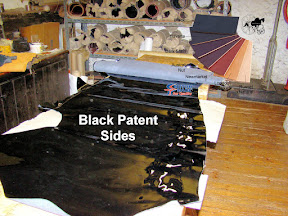 Finest Quality Traditional English Black Patent Leather Half Side