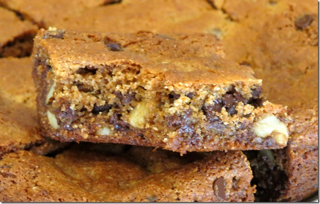 Chocolate Chip Walnut Blondies, Grain Free, Refined Sugar Free 3