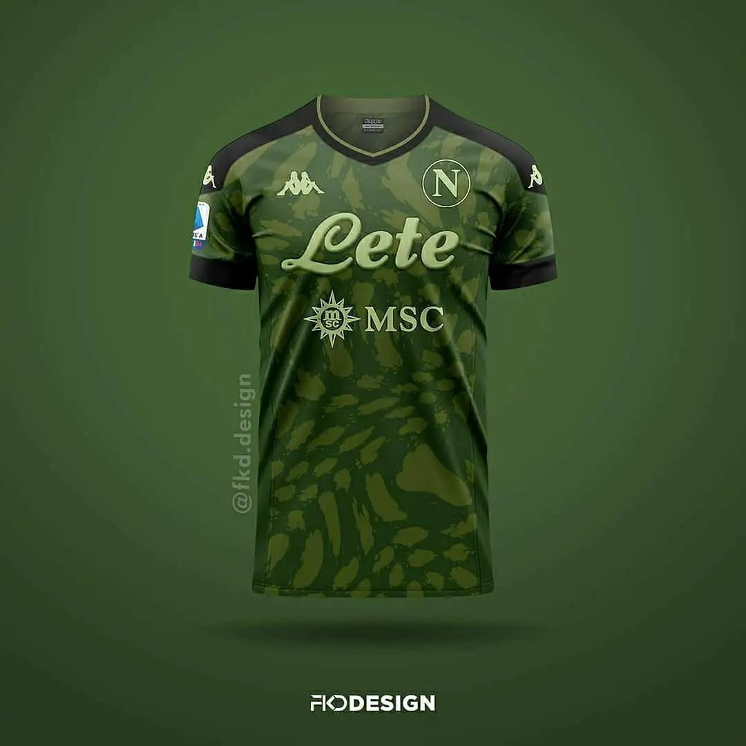 gambar foto bocoran jersey napoli away musim 2020-2021