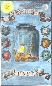 Engraving 1 From Baro Urbigerus Besondere Chymische Schrifften 1705, Alchemical And Hermetic Emblems 2