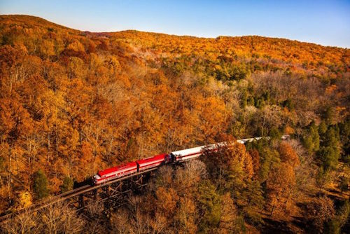 Train with fall colors 700x467 2
