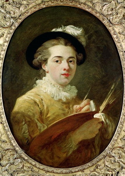 François-André Vincent - Self Portrait with palette