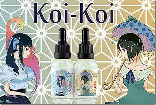 koi koi thumb%255B1%255D - 【リキッド】「MK Lab Koi-Koi Rainy Draw(エムケーラボ 来々 コイコイ 雨流れ)」レビュー。この濃さ、美味しさ、そして可愛さのとりこになる!【MKLab/コイコイ/KOI-KOI/恋々】