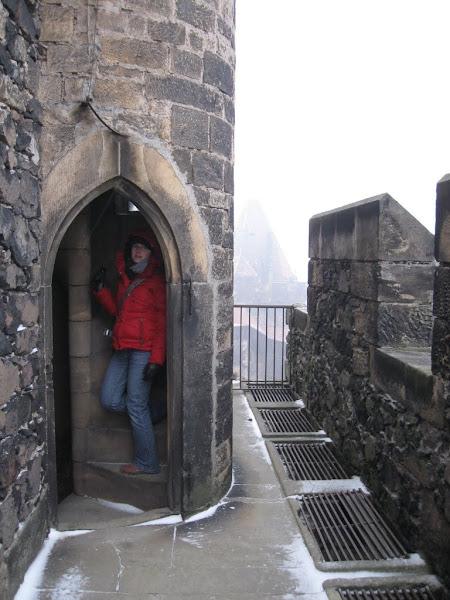 Zamek Grodziec - schody na wieżę widokową
