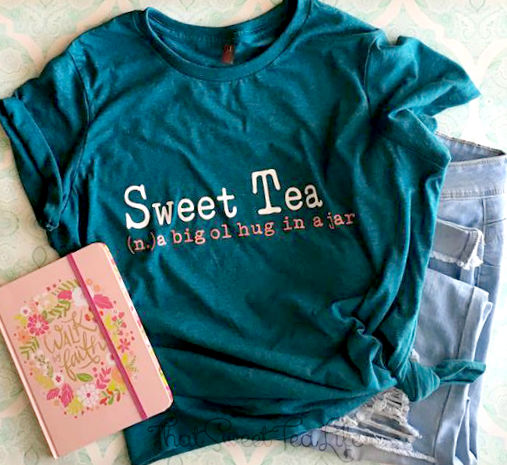 Sweet tea hug in a jar tee