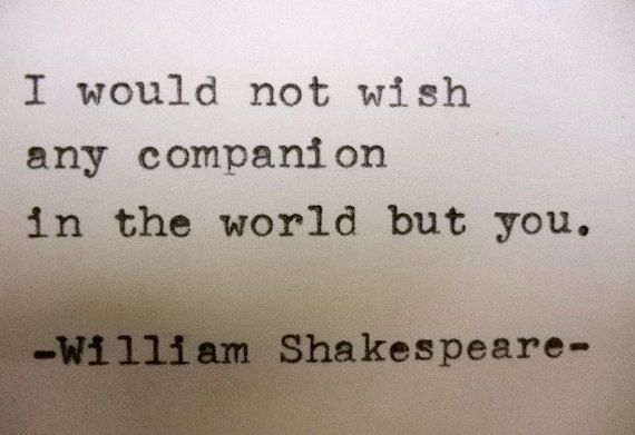 Famous love quotes shakespeare