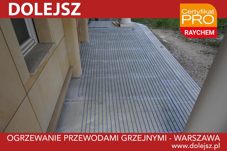 Ogrzewanie schodów montaż serwis Warszawa