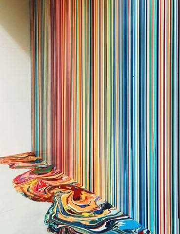 Ian Davenport in Venice Biennale foto Jon Gasca