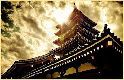 Bangunan bersejarah Kuil Kinkakujin, Kyoto, Jepang