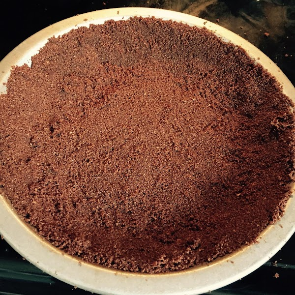 Combine all ingredients together for chocolate crust. Press into a 9 inch pie pan....