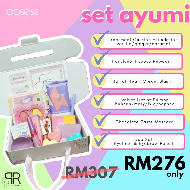 Obsess Cosmetics, Set Ayumi, treatment cushion foundation obses, Loose Powder Obsess