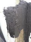 Hier musste der falsche Schaumstoff-Block zugedeckt werden