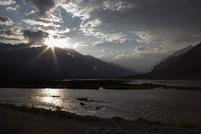 Sunset in Gahkuch, Ghizer