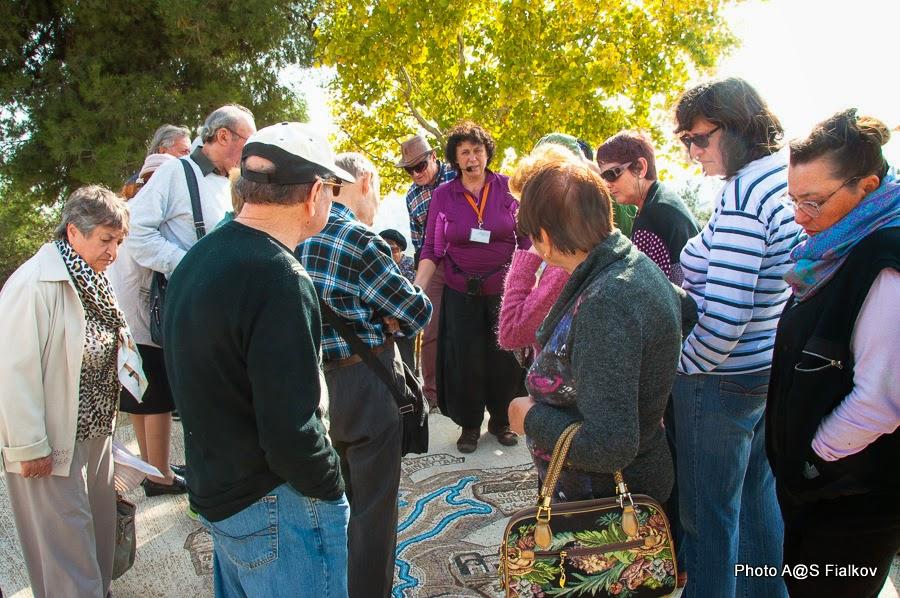 Мозаичный макет системы водоснабжения древнего Иерусалима. Экскурсия в Иерусалиме Светланы Фиалковой.