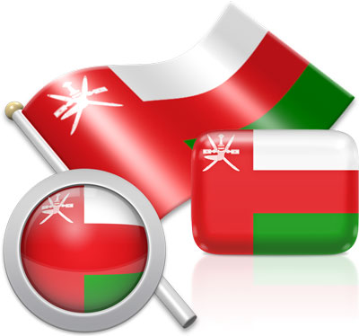Omani flag icons pictures collection