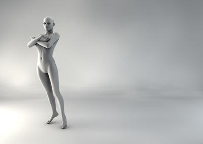 femme 3D pose naturelle SP 08